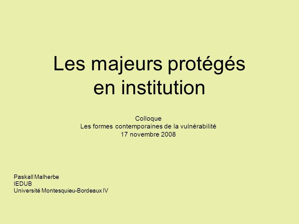 Les majeurs protégés en institution