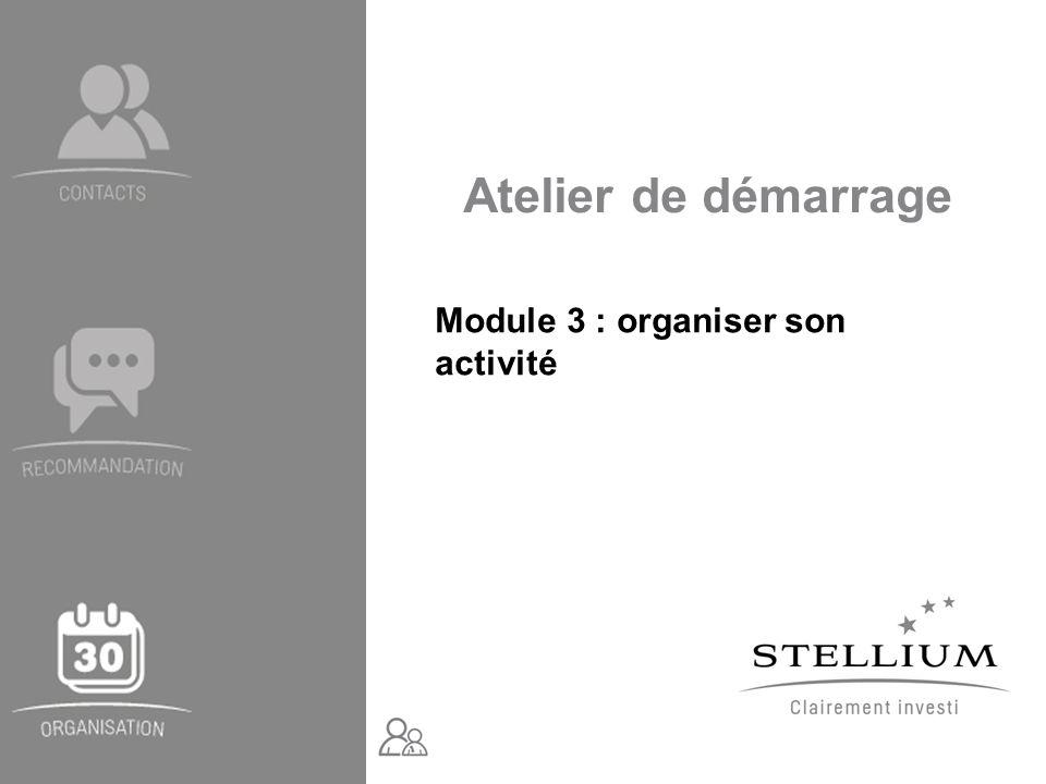 Module 3 : organiser son activité