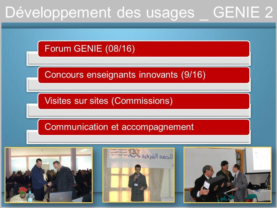 Développement des usages _ GENIE 2