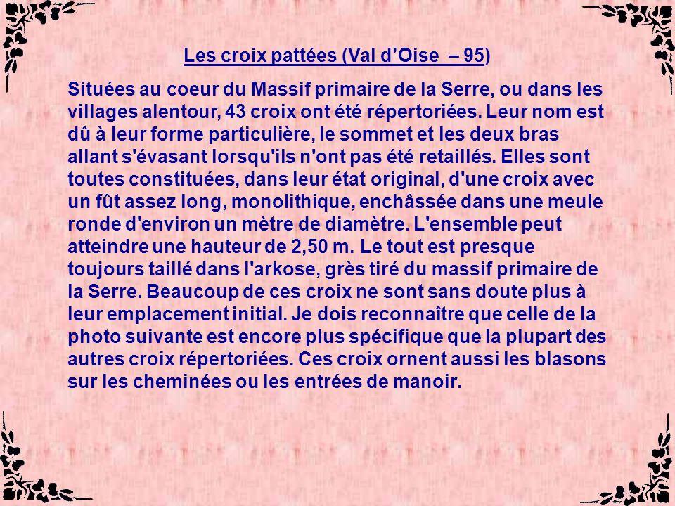 Les croix pattées (Val d'Oise – 95)