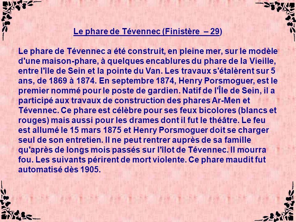 Le phare de Tévennec (Finistère – 29)