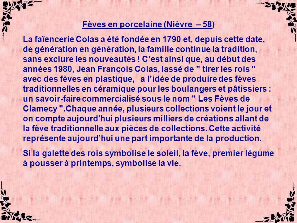 Fèves en porcelaine (Nièvre – 58)