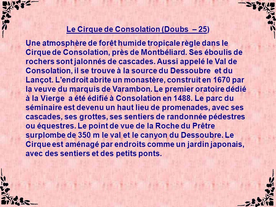 Le Cirque de Consolation (Doubs – 25)