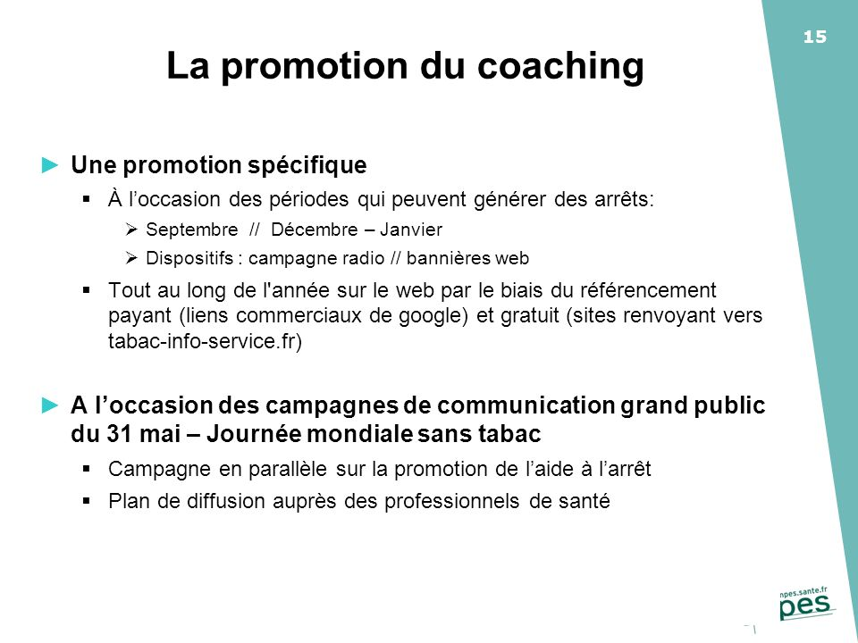 La promotion du coaching
