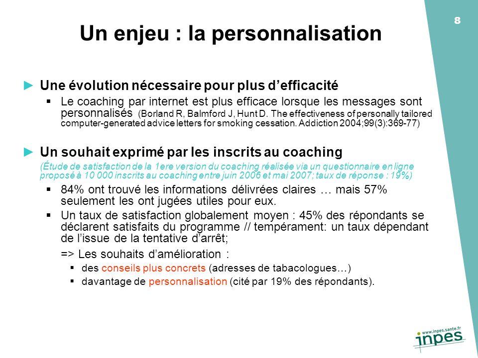 Un enjeu : la personnalisation