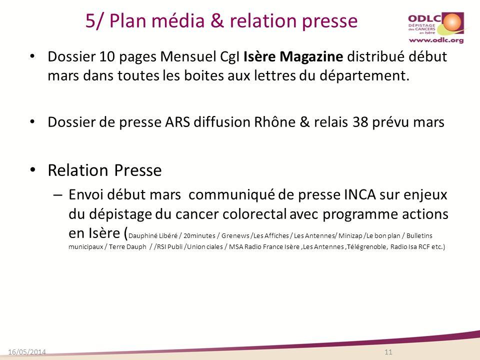 5/ Plan média & relation presse