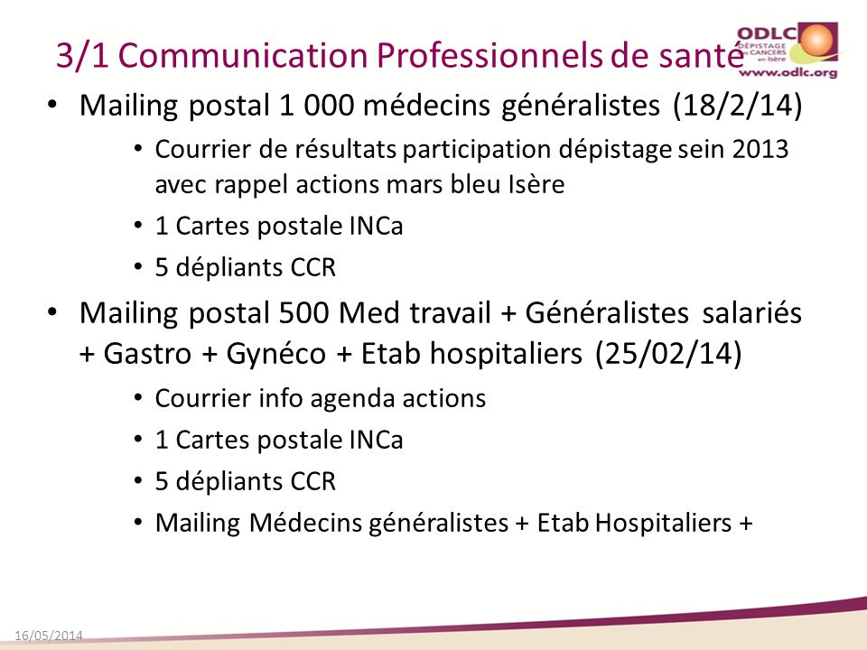 3/1 Communication Professionnels de santé