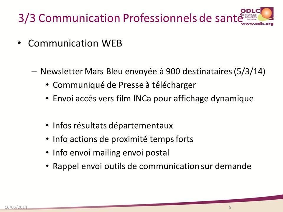 3/3 Communication Professionnels de santé