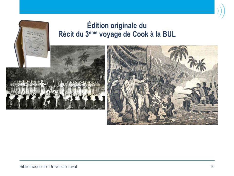 Édition originale du Récit du 3ème voyage de Cook à la BUL
