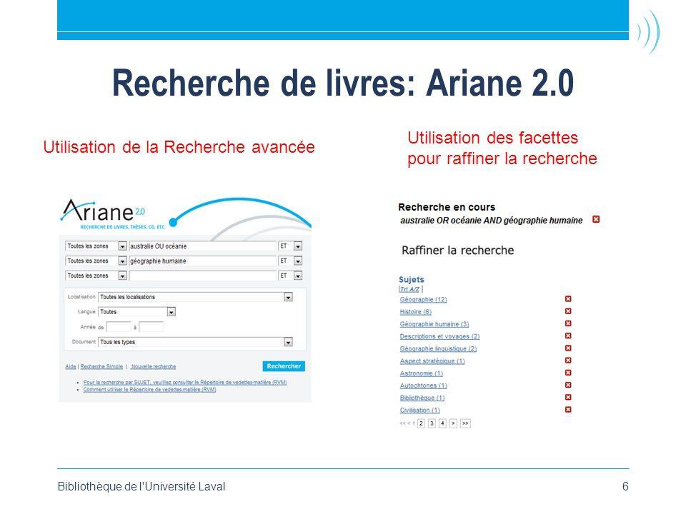 Recherche de livres: Ariane 2.0