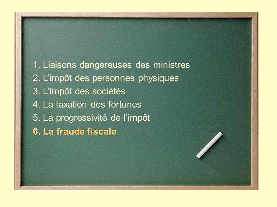 1. Liaisons dangereuses des ministres