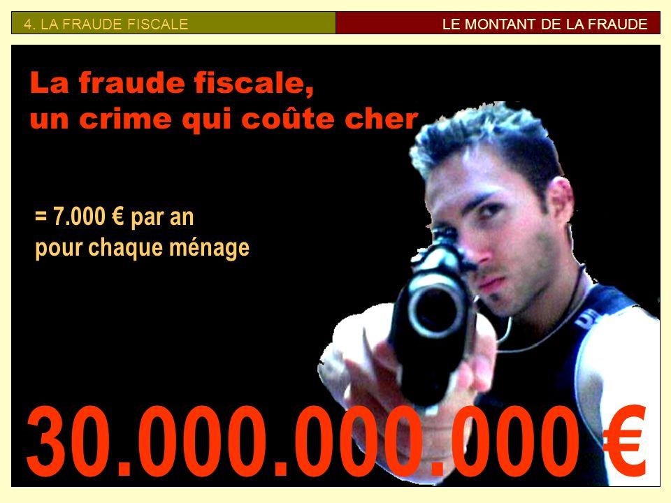 30.000.000.000 € La fraude fiscale, un crime qui coûte cher