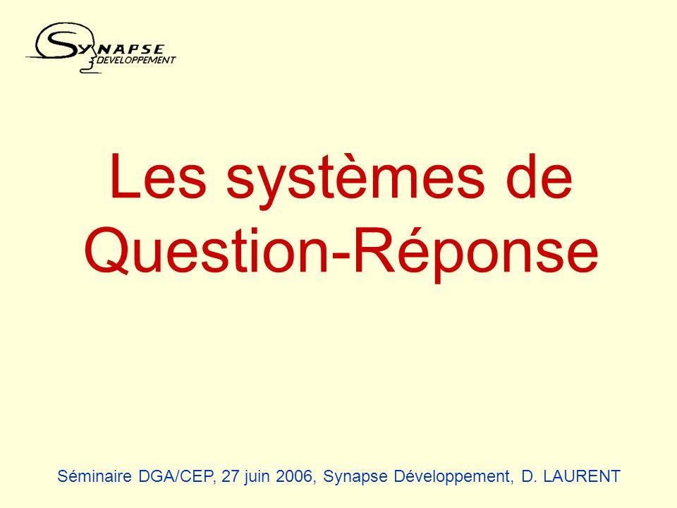 Les systèmes de Question-Réponse