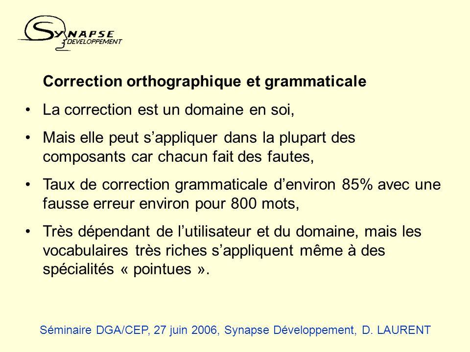 Correction orthographique et grammaticale