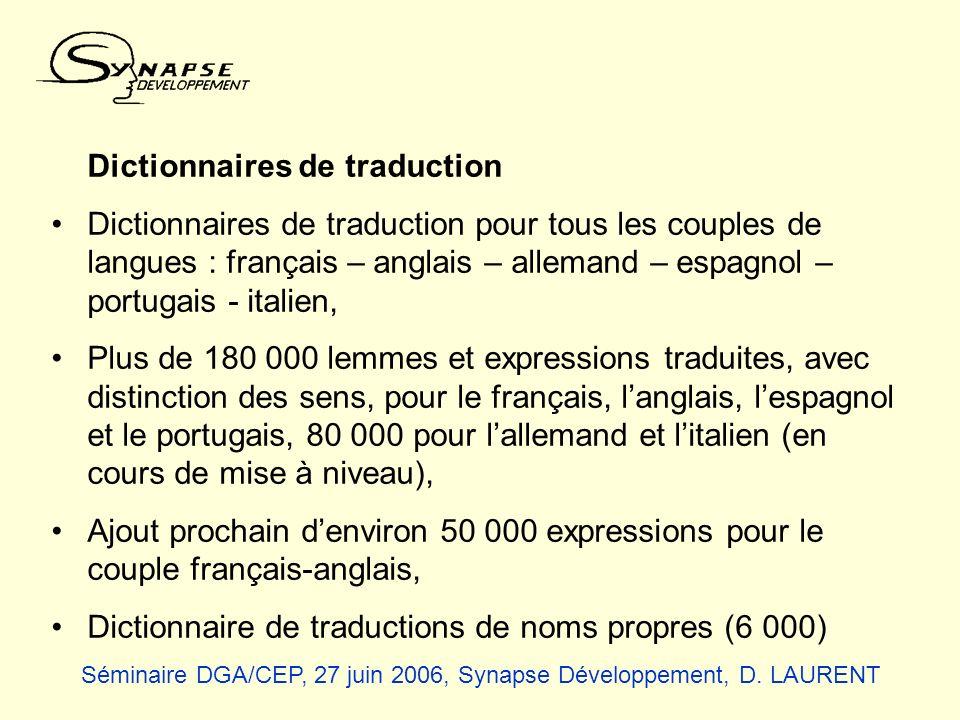 Dictionnaire de traductions de noms propres (6 000)