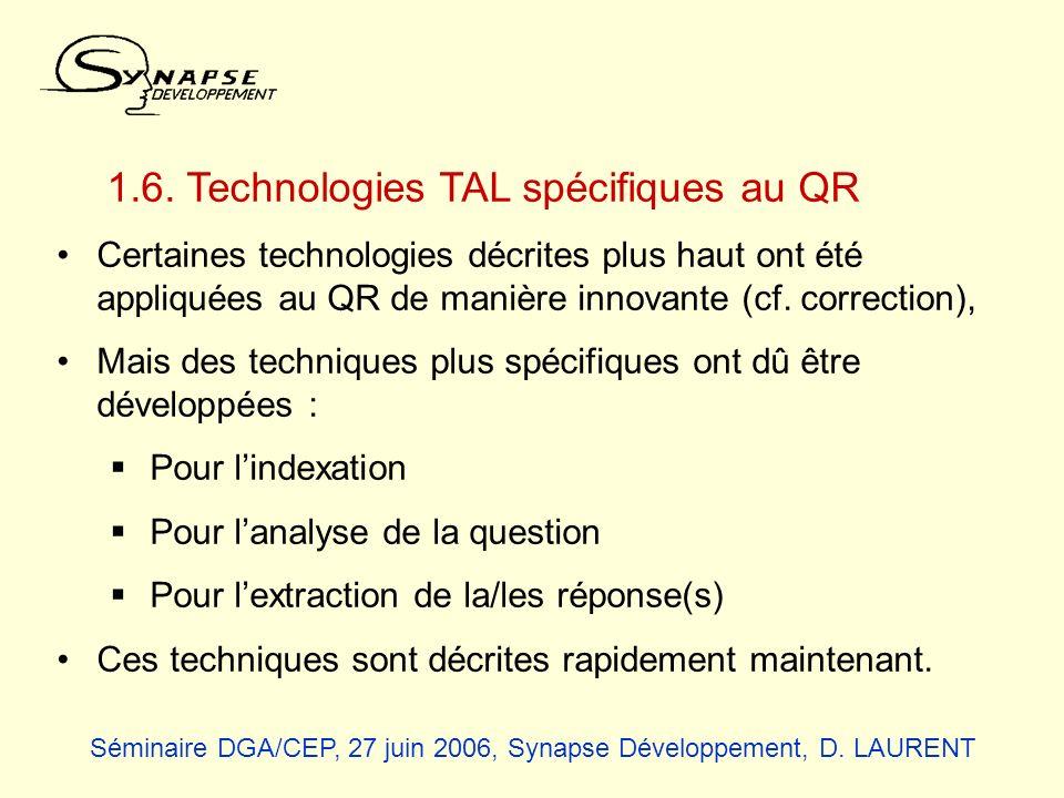 1.6. Technologies TAL spécifiques au QR