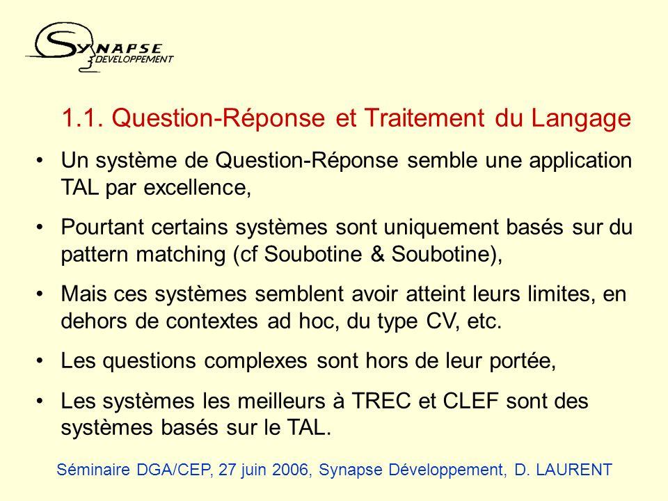 1.1. Question-Réponse et Traitement du Langage