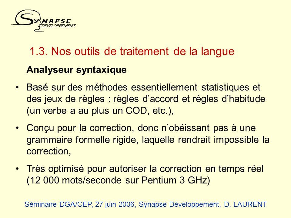 1.3. Nos outils de traitement de la langue