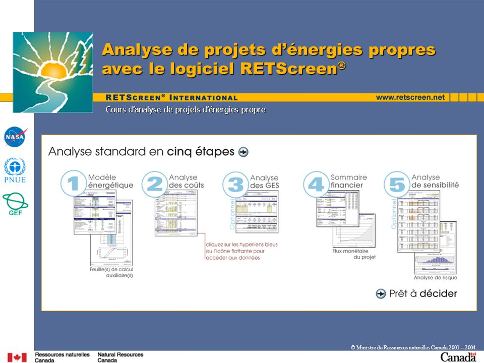 Analyse de projets d'énergies propres avec le logiciel RETScreen®