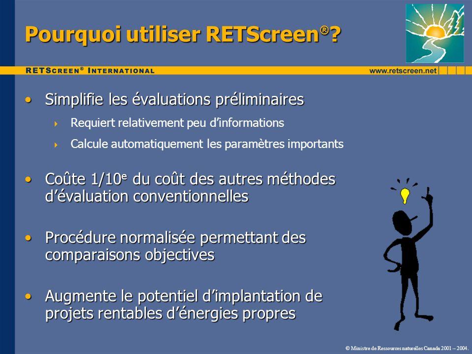 Pourquoi utiliser RETScreen®
