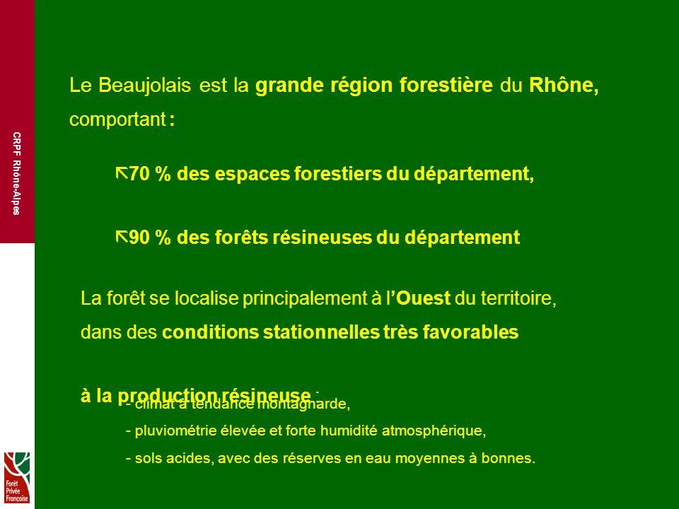 Le Beaujolais est la grande région forestière du Rhône,