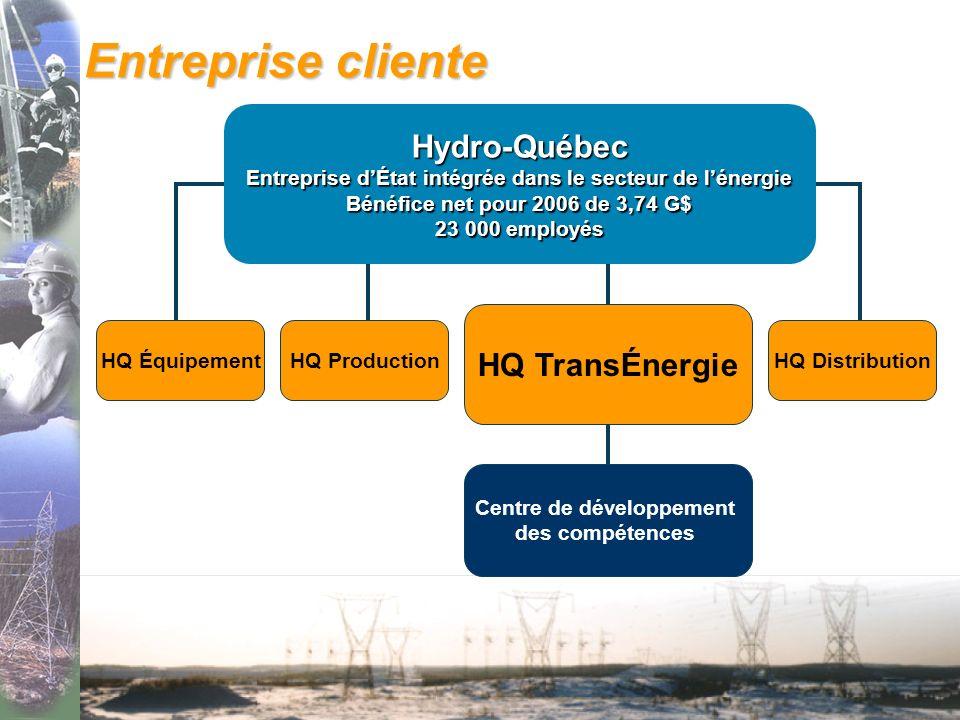 Entreprise cliente Hydro-Québec HQ TransÉnergie