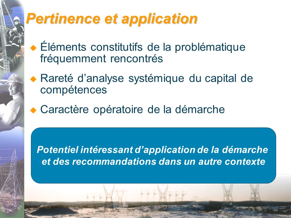 Pertinence et application