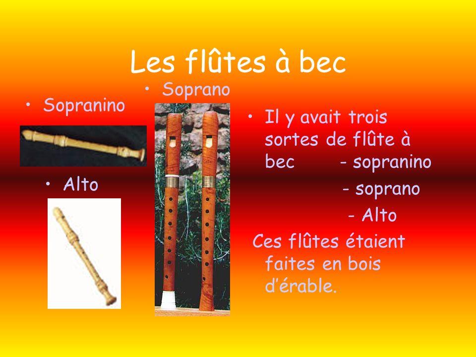 Les flûtes à bec Soprano Sopranino