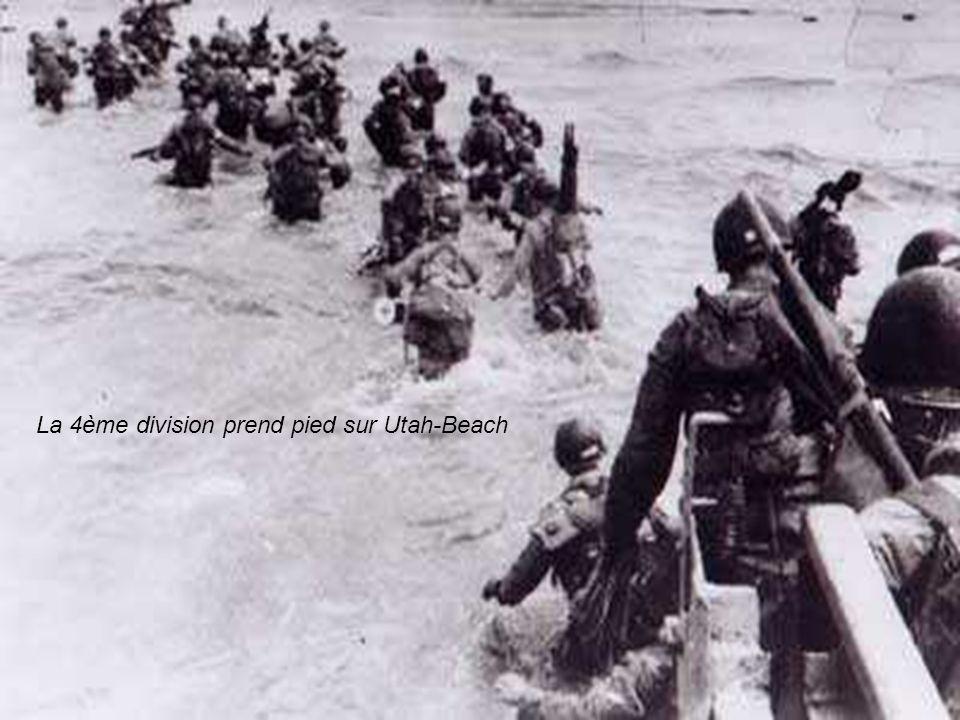 La 4ème division prend pied sur Utah-Beach