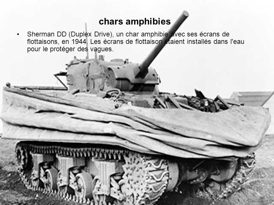 chars amphibies