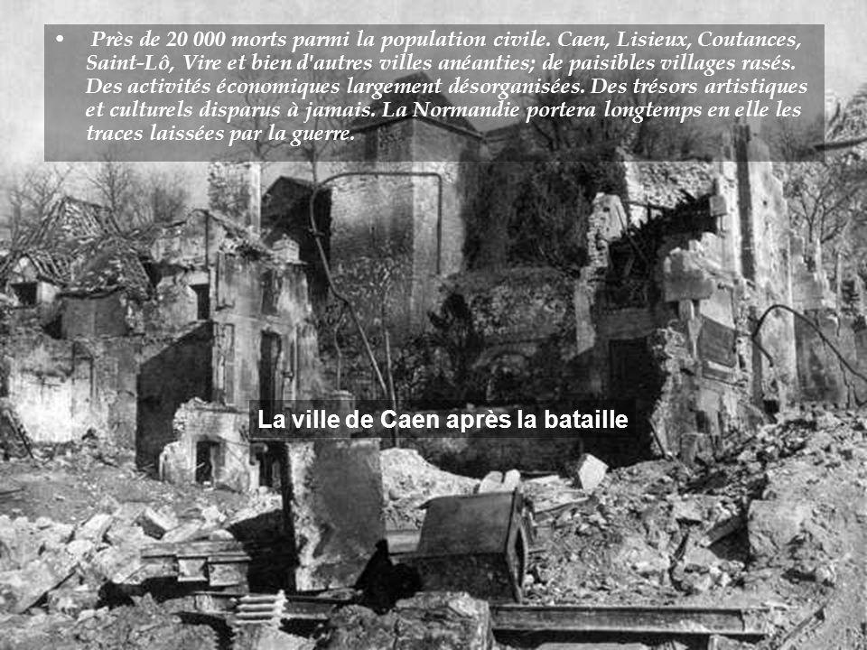 La ville de Caen après la bataille