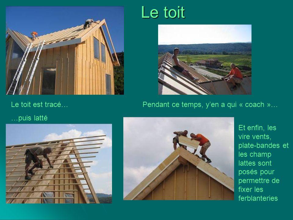 Le toit Le toit est tracé… …puis latté