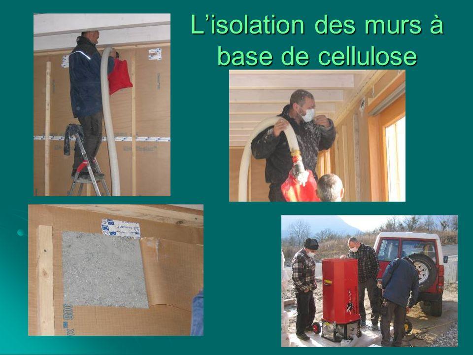 L'isolation des murs à base de cellulose