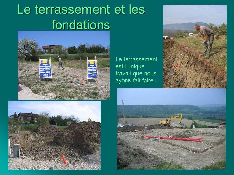 Le terrassement et les fondations