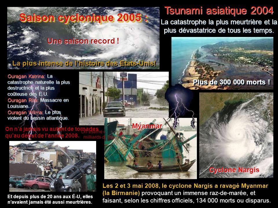 Saison cyclonique 2005 : Tsunami asiatique 2004 Une saison record !