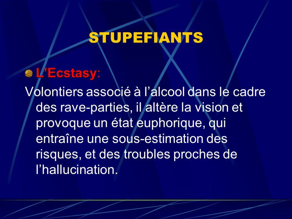 STUPEFIANTS L'Ecstasy: