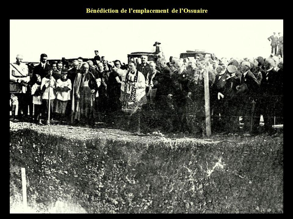 Bénédiction de l'emplacement de l'Ossuaire