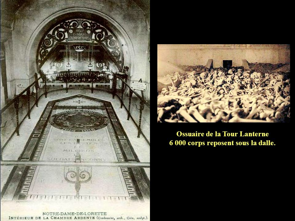 Ossuaire de la Tour Lanterne 6 000 corps reposent sous la dalle.