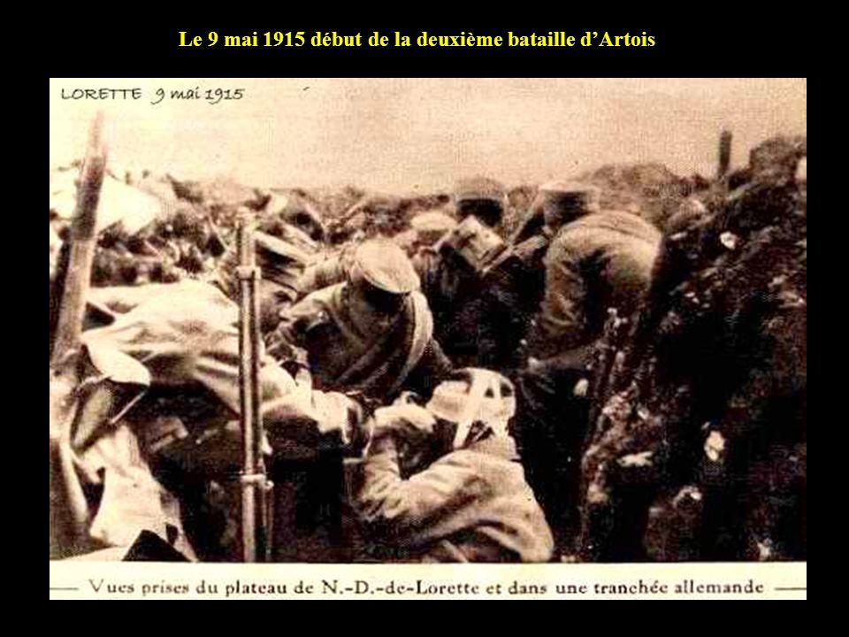 Le 9 mai 1915 début de la deuxième bataille d'Artois