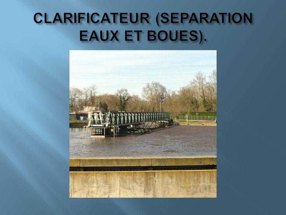 CLARIFICATEUR (SEPARATION EAUX ET BOUES).