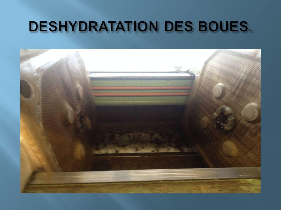 DESHYDRATATION DES BOUES.