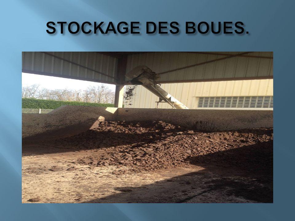 STOCKAGE DES BOUES.