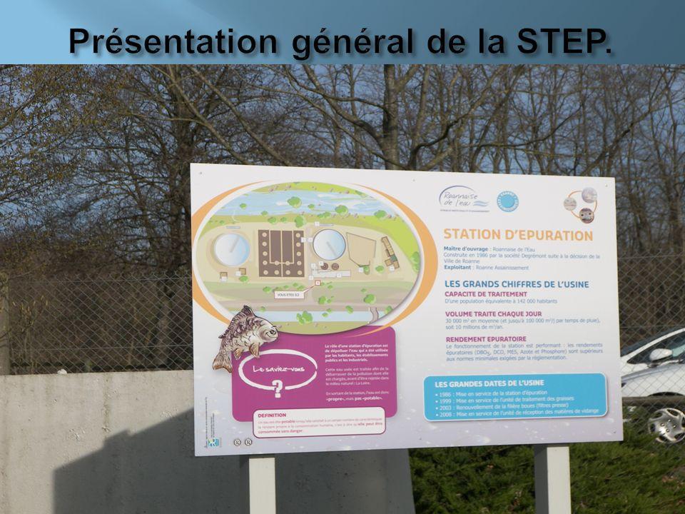 Présentation général de la STEP.