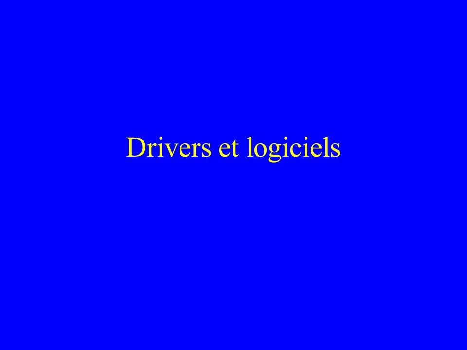 Drivers et logiciels
