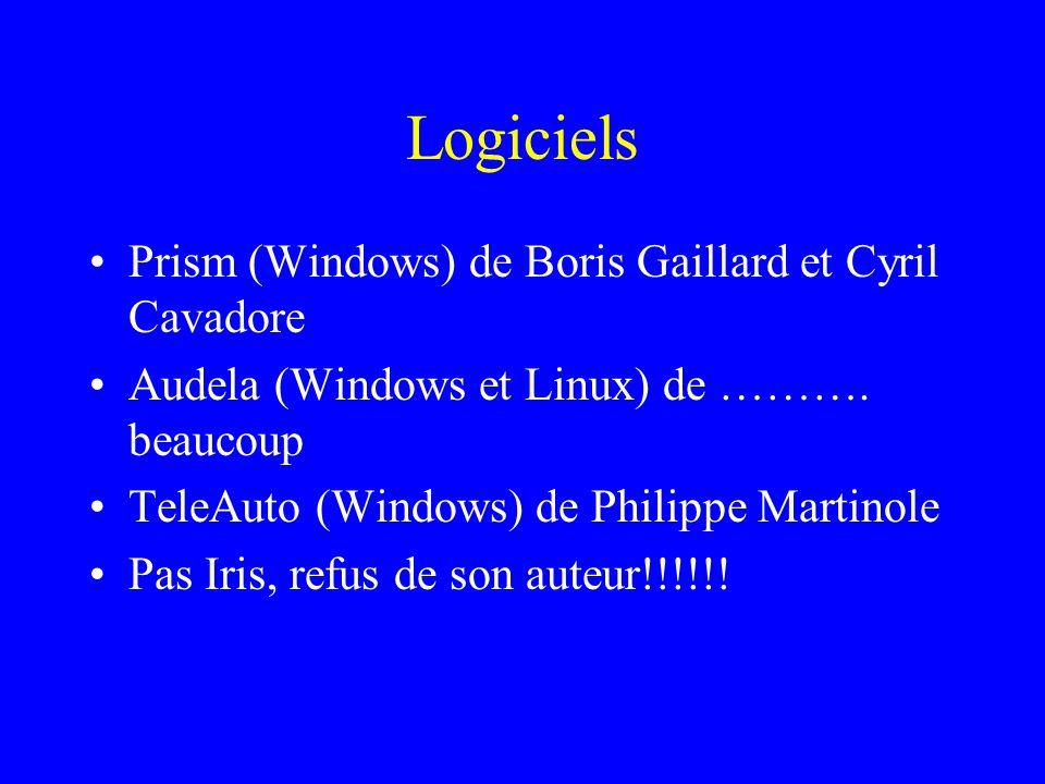 Logiciels Prism (Windows) de Boris Gaillard et Cyril Cavadore