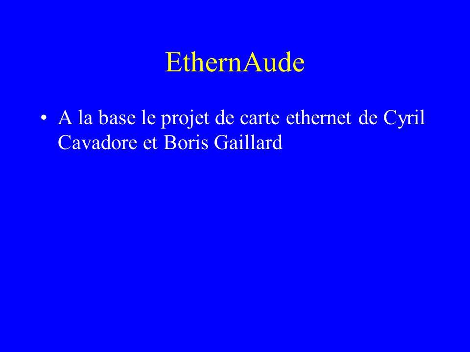 EthernAude A la base le projet de carte ethernet de Cyril Cavadore et Boris Gaillard