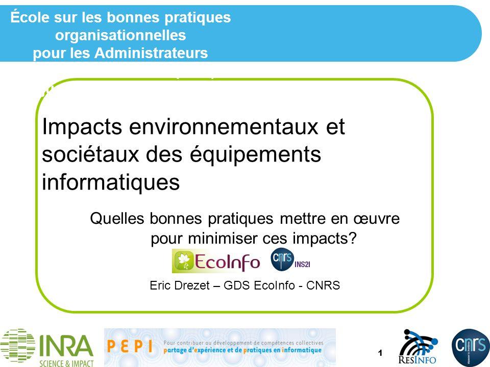 Impacts environnementaux et sociétaux des équipements informatiques