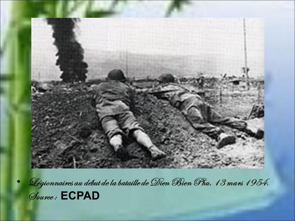 Légionnaires au début de la bataille de Dien Bien Phu. 13 mars 1954