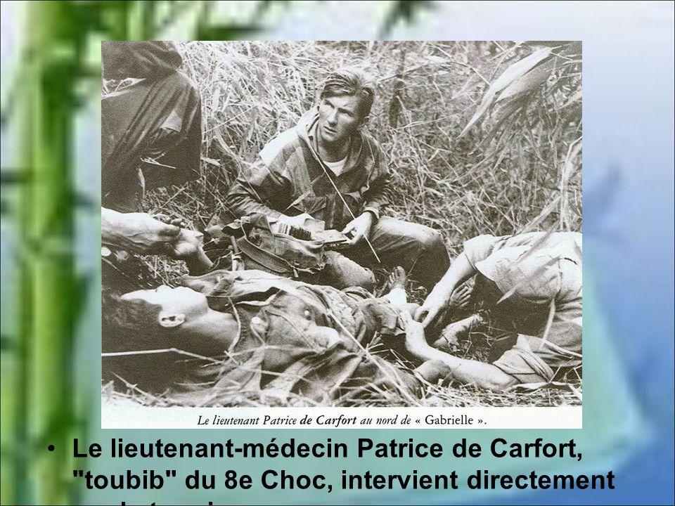 Le lieutenant-médecin Patrice de Carfort, toubib du 8e Choc, intervient directement sur le terrain.
