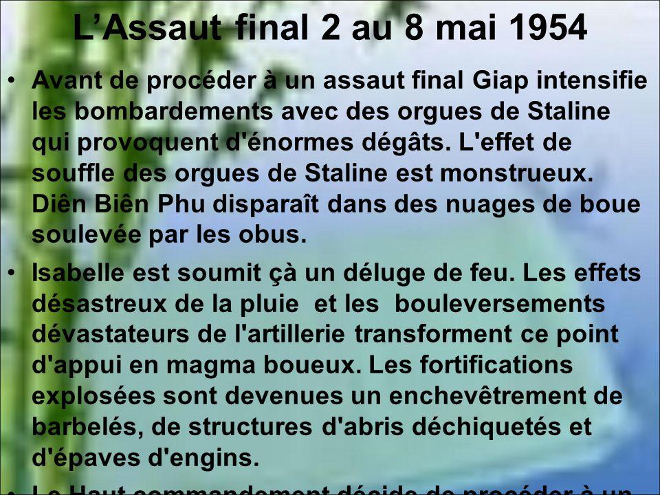 L'Assaut final 2 au 8 mai 1954